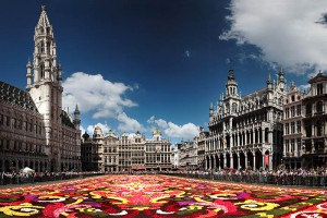 Flower display 2008 at Brussels Grand Place